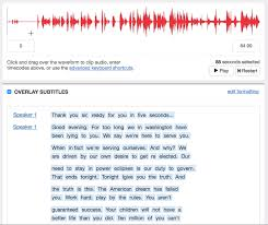 Transcript from Sound to Text